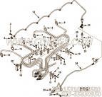 【3925860】燃油回油管 用在康明斯柴油机