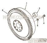 【飞轮】康明斯CUMMINS柴油机的176702 飞轮