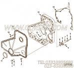 【引擎6CTA8.3-C175的齿轮室组】 康明斯齿轮室密封垫报价,参数及图片