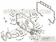 【齿轮罩】康明斯CUMMINS柴油机的4007564 齿轮罩