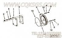 206407前盖衬垫,用于康明斯KTA38-C1200主机液压泵驱动组,更多【供液泵车】配件报价