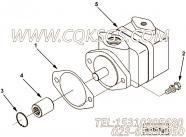 3251181液压泵,用于康明斯NT855-C250柴油发动机液压泵及安装组,更多【冷再生机】配件报价