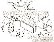 3393524输水管,用于康明斯KTA38-M1发动机散热器组,更多【船用】配件报价