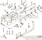 3000900夹子,用于康明斯KT19-C450动力机油冷却器组,更多【压路机】配件报价