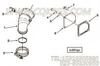 【发动机C325 20的增压器出气连接件组】 康明斯进气输送管接头报价,参数及图片