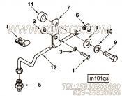 3031618夹子,用于康明斯NTC-350柴油发动机进气管安装组,更多【银鹏水泵机组】配件报价