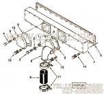 3818846衬垫,用于康明斯M11-C380 E20柴油机增压器布置组,更多【挖掘机】配件报价