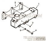 【进气歧管垫片】康明斯CUMMINS柴油机的C0154275700 进气歧管垫片