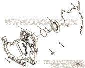 【引擎6CTA8.3-GM175的齿轮室组】 康明斯齿轮室密封垫报价,参数及图片