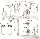 3818121螺栓,用于康明斯M11-C350发动机排气管布置(空空中冷用)组,更多【重庆重汽牵引车】配件报价
