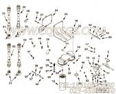 205348活塞冷却柱塞,用于康明斯KT19-C450发动机机油滤清器组,更多【中航技矿用自卸车】配件报价