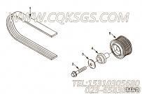 【柴油机6CTA8.3-C205的皮带涨紧轮组】 康明斯惰轮轴报价,参数及图片