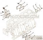 3028684手孔盖,用于康明斯M11-C350柴油发动机加油口位置及手孔盖组,更多【履带式装载机】配件报价