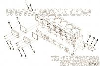 3077983凸轮轴从动件盖安装,用于康明斯KTA19-C525主机基础件组,更多【军品车】配件报价