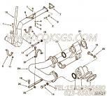 3175258管夹,用于康明斯KTA38-C1200柴油机机油吸油管组,更多【扫雪车】配件报价