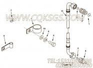 3628534增压器供油管接头,用于康明斯KTA38-G5-800GF柴油发动机基础件组,更多【柴油发电】配件报价