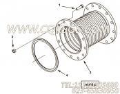 3897563排气波纹管,用于康明斯KTA38-M1主机排气波纹管组,更多【轮船用】配件报价