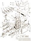 【传感器支架】康明斯CUMMINS柴油机的4916881 传感器支架
