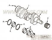 【发动机曲轴】康明斯CUMMINS柴油机的4900901 发动机曲轴