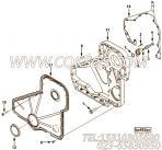 【柴油机6CT8.3-GM115的齿轮室组】 康明斯齿轮室报价,参数及图片