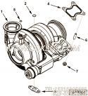 【涡轮增压器】康明斯CUMMINS柴油机的3596617 涡轮增压器