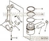 3064397压缩环,用于康明斯NTC-350柴油发动机性能件组,更多【铣刨机】配件报价