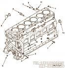 69465夹子,用于康明斯NTA855-G2-CE170柴油发动机增压器安装组,更多【内蒙古北方重汽矿用自卸车】配件报价