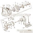 【涡轮增压器】康明斯CUMMINS柴油机的3528790 涡轮增压器