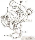 【涡轮增压器】康明斯CUMMINS柴油机的3596151 涡轮增压器