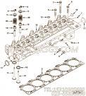 【柴油机6CTA8.3-C212的性能件组】 康明斯气缸盖总成报价,参数及图片