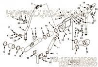 【引擎6BTAA5.9-C170的加速操纵线调整固定板组】 康明斯六角法兰面螺栓报价,参数及图片