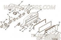 【空气交叉管】康明斯CUMMINS柴油机的3090798 空气交叉管