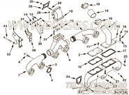 【涡轮增压器支架】康明斯CUMMINS柴油机的3255630 涡轮增压器支架