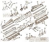 【进气歧管垫片】康明斯CUMMINS柴油机的2873265 进气歧管垫片