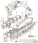 【发动机6CTA8.3-C230的增压器布置组】 康明斯进气过渡管报价,参数及图片