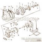 【涡轮增压器】康明斯CUMMINS柴油机的3532204 涡轮增压器