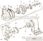 【涡轮增压器】康明斯CUMMINS柴油机的3802303 涡轮增压器