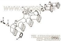 【柴油机6LTAA8.9-C360的增压器布置组】 康明斯排气歧管报价,参数及图片