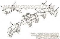 【柴油机6BT5.9-GM100的排气歧管安装件组】 康明斯六角法兰面螺栓报价,参数及图片
