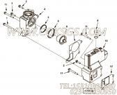 【恒温壳盖】康明斯CUMMINS柴油机的3103325 恒温壳盖