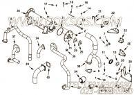 【水管支架】康明斯CUMMINS柴油机的4099300 水管支架
