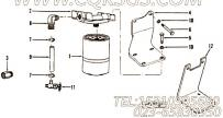 258265水滤器带盖总成,用于康明斯NT855-C310发动机水滤器组,更多【装载机】配件报价