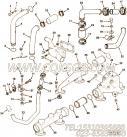 3001939出水接头,用于康明斯NTA855-P220柴油机水室盖及后水管组,更多【消防泵】配件报价