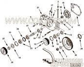 【水泵轴】康明斯CUMMINS柴油机的3064392 水泵轴
