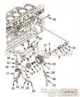 【水旁通管】康明斯CUMMINS柴油机的4095589 水旁通管