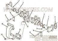 3044551增压器进气接头,用于康明斯M11-C175动力排气管组,更多【陕建稳定土拌合机】配件报价