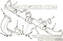 3606660排气管,用于康明斯M11-C295发动机排气管组,更多【上海三一矿用自卸车】配件报价