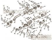 3626804锁紧螺母,用于康明斯KTA38-P1070动力排气管组,更多【消防泵】配件报价