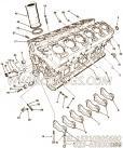 用于进口VTA28柴油机Cylinder Block Mounting