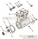 【空气压缩机】康明斯CUMMINS柴油机的3074470 空气压缩机